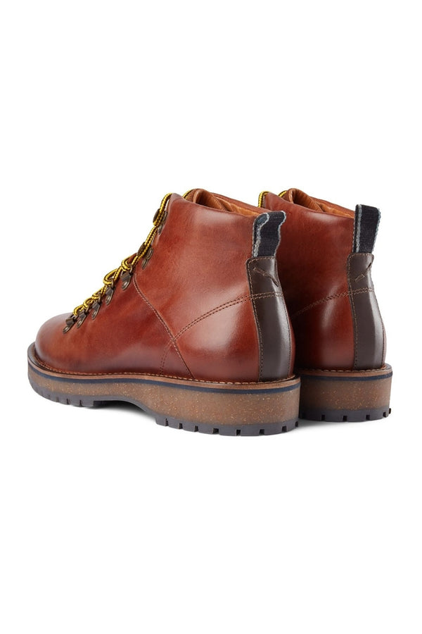 SHOE THE BEAR BROWN LAWRENCE LEATHER BOOT