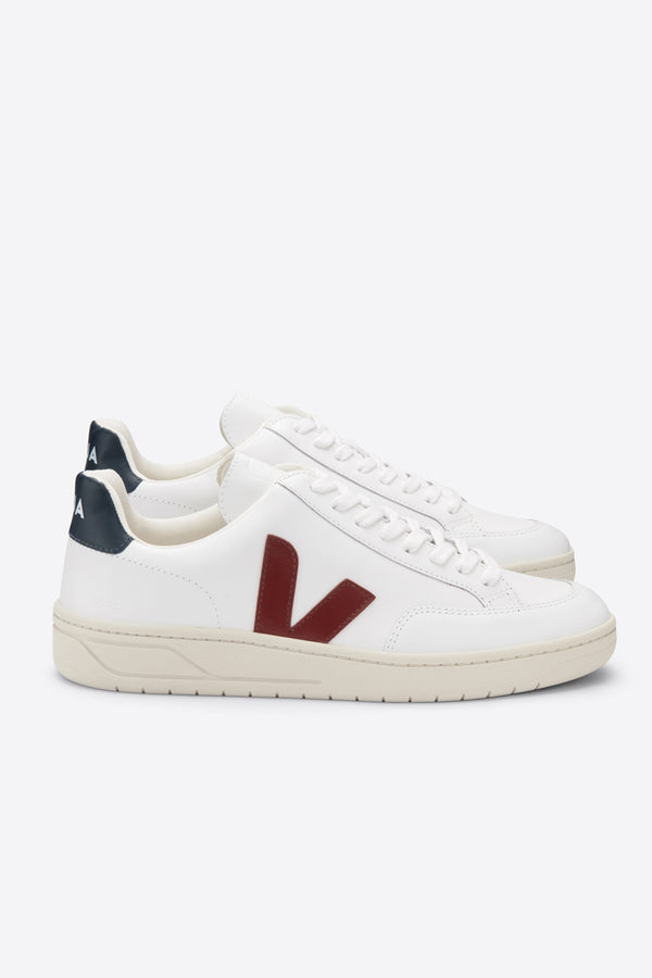 V-12 Extra White Marsala Nautico Leather Trainer Mens