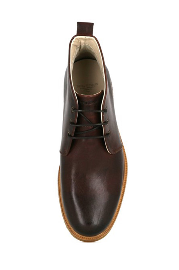 ROYAL REPUBLIQ CHESTNUT CAST CREPE DERBY BOOT