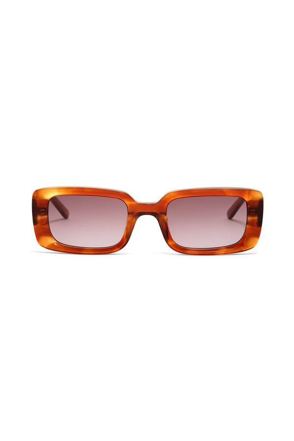 HOT FUTURES TORTOISESHELL GROOVER TAN LENS SUNGLASSES
