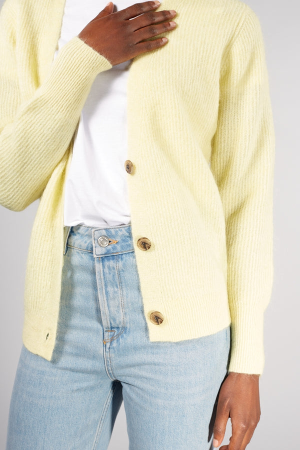 LEVETE ROOM YELLOW CILLE CARDIGAN