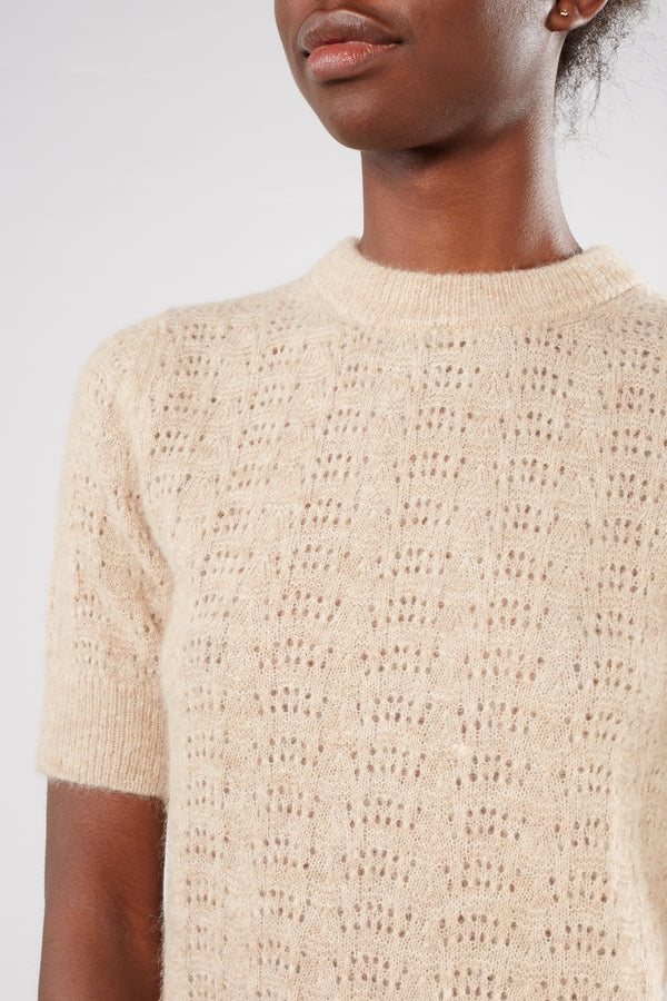 NUÉ NOTES OATMEAL CREAM VENEDA KNIT PULLOVER