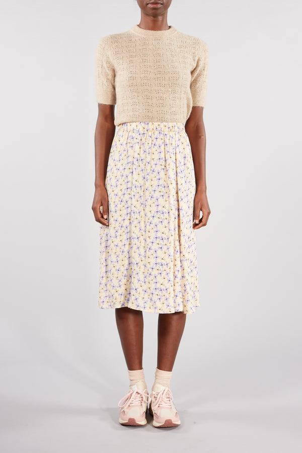 Heather Ivory Printed Diana Skirt