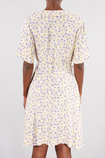 NUÉ NOTES HEATHER AND IVORY BARAKA WRAP DRESS