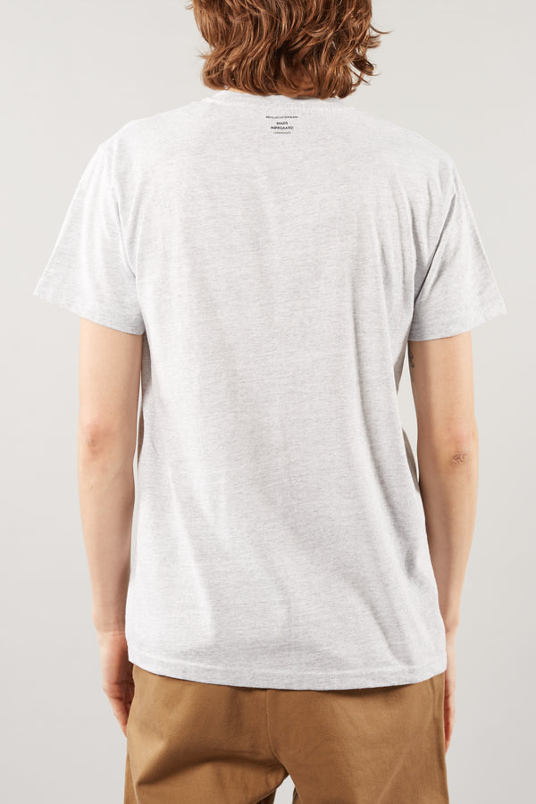 MADS NORGAARD DUSTY THOR LIGHT GREY MELANGE TEE