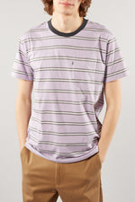 MADS NORGAARD TROLL WISTERIA PINK WHITE STRIPED TEE