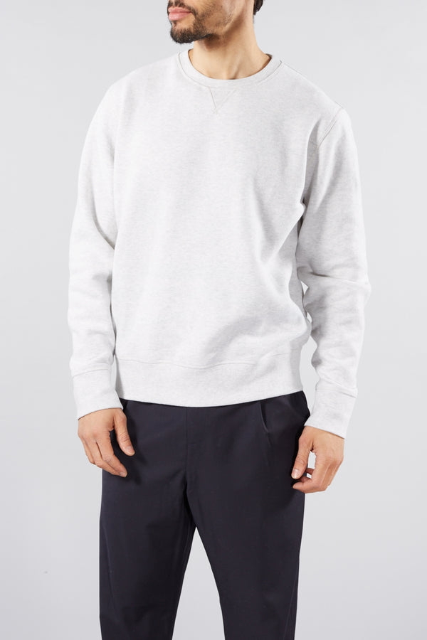 LEVI'S MADE AND CRAFTED WHITE STONE RELAXED CREWNECK JUMPER