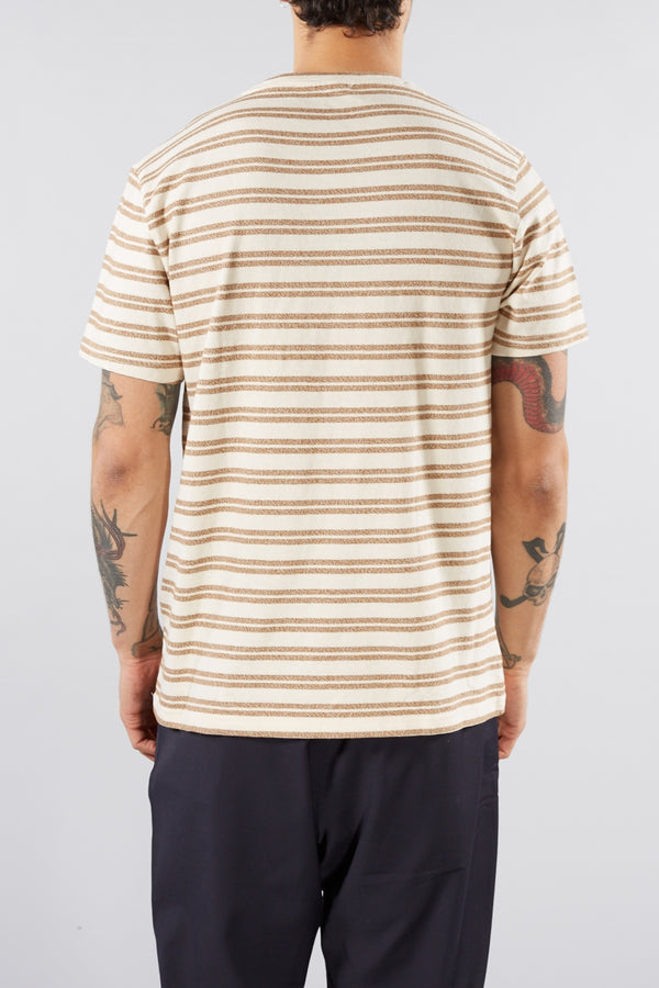 SAMSOE O SAMSOE BROWN STRIPE CARPO TEE