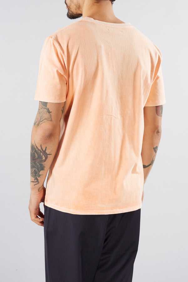 LEVI'S MADE AND CRAFTED WASHED ORANGE POCKET TEE