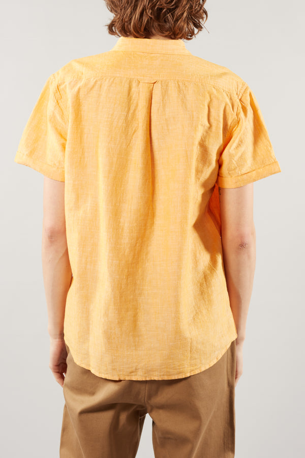 Zennia Yellow Larch Linen Shirt