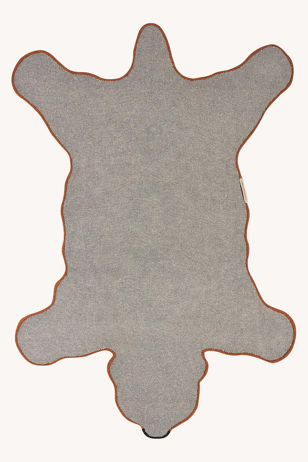 Brown Berber Grizzly Bear Rug Large