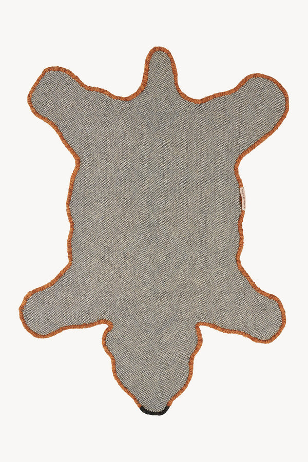 Brown Berber Grizzly Bear Rug Small