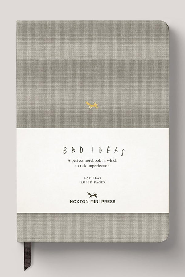 HOXTON MINI PRESS A NOTEBOOK FOR BAD IDEAS GREY WITH LINED PAGES