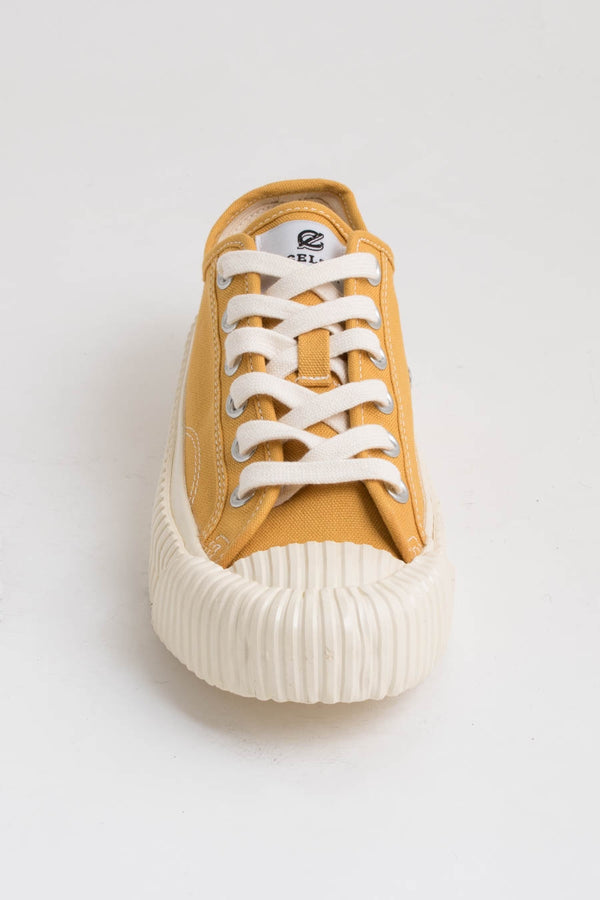 Excelsior Yellow Bolt Low Canvas Trainers