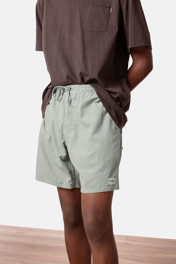 MENS STONE BLUE CORDUROY JAM SHORTS