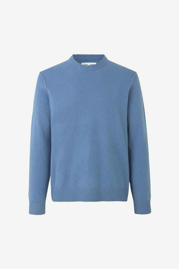 SAMSOE O SAMSOE BLUE HEAVEN CALORE CREW NECK JUMPER