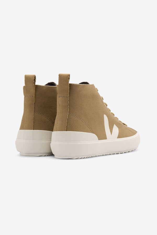 VEJA NOVA BROWN WHITE HIGH TOP VEGAN TRAINERS WOMENS