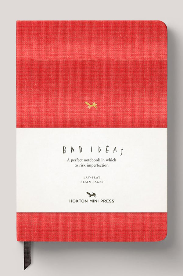HOXTON MINI PRESS A NOTEBOOK FOR BAD IDEAS RED WITH PLAIN PAGES