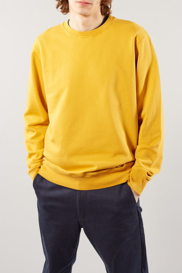 COLORFUL STANDARD BURNT YELLOW MENS CLASSIC ORGANIC CREWNECK SWEATER