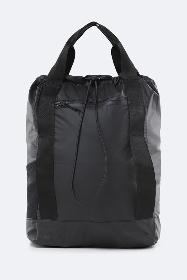 RAINS BLACK ULTRALIGHT TOTE BAG
