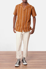 Almond Brown Vacation Stripe Shirt