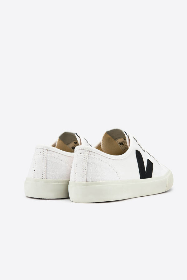 Veja White and Black Wata Canvas Trainer