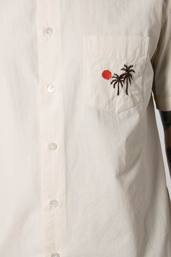 La Paz Palm Trees Alegre Pocket Embroidery Shirt