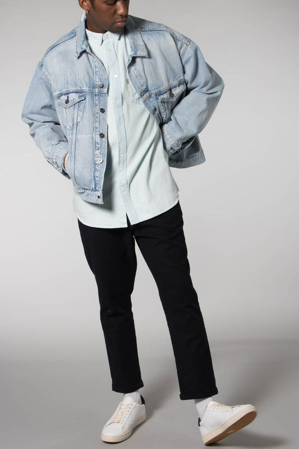 Mads Norgaard Bleached Denim Soran Denim Shirt