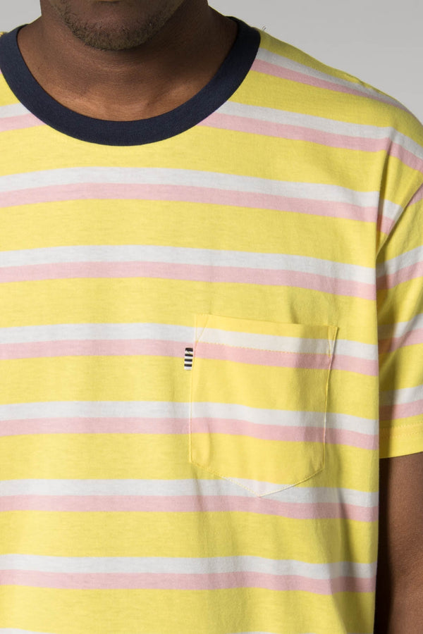 Mads Norgaard Meadow Lark Troll Yellow Striped Tee