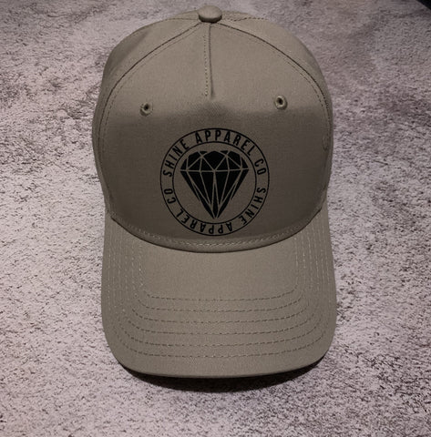 S H I N E Apparel Co Snapback Tan