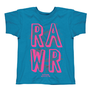"Youth ""Dino Rawr"" Tee - Pacific Blue"