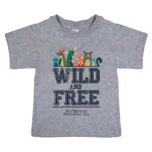 "Toddler ""Wild and Free"" Tee - Heather Gray"