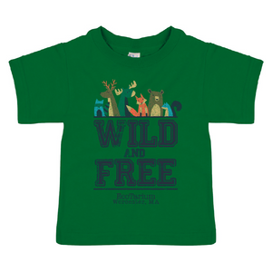 "Toddler ""Wild and Free"" Tee - Kelly Green"