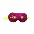 Deep Pink, Orange, Purple and Fluorescent Green Embroidered Sleep Mask