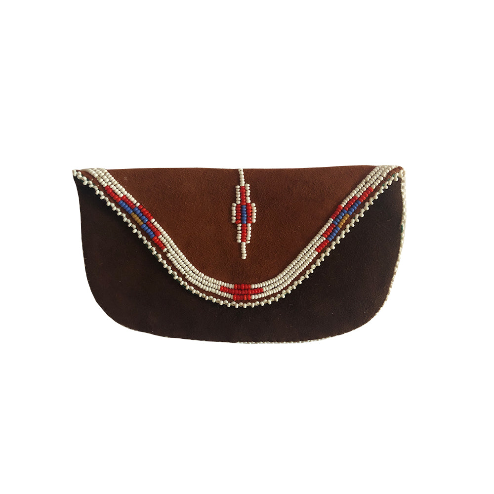 Suede Beaded Pouch