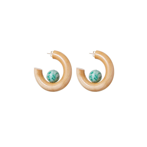 The Jade Sun Earrings