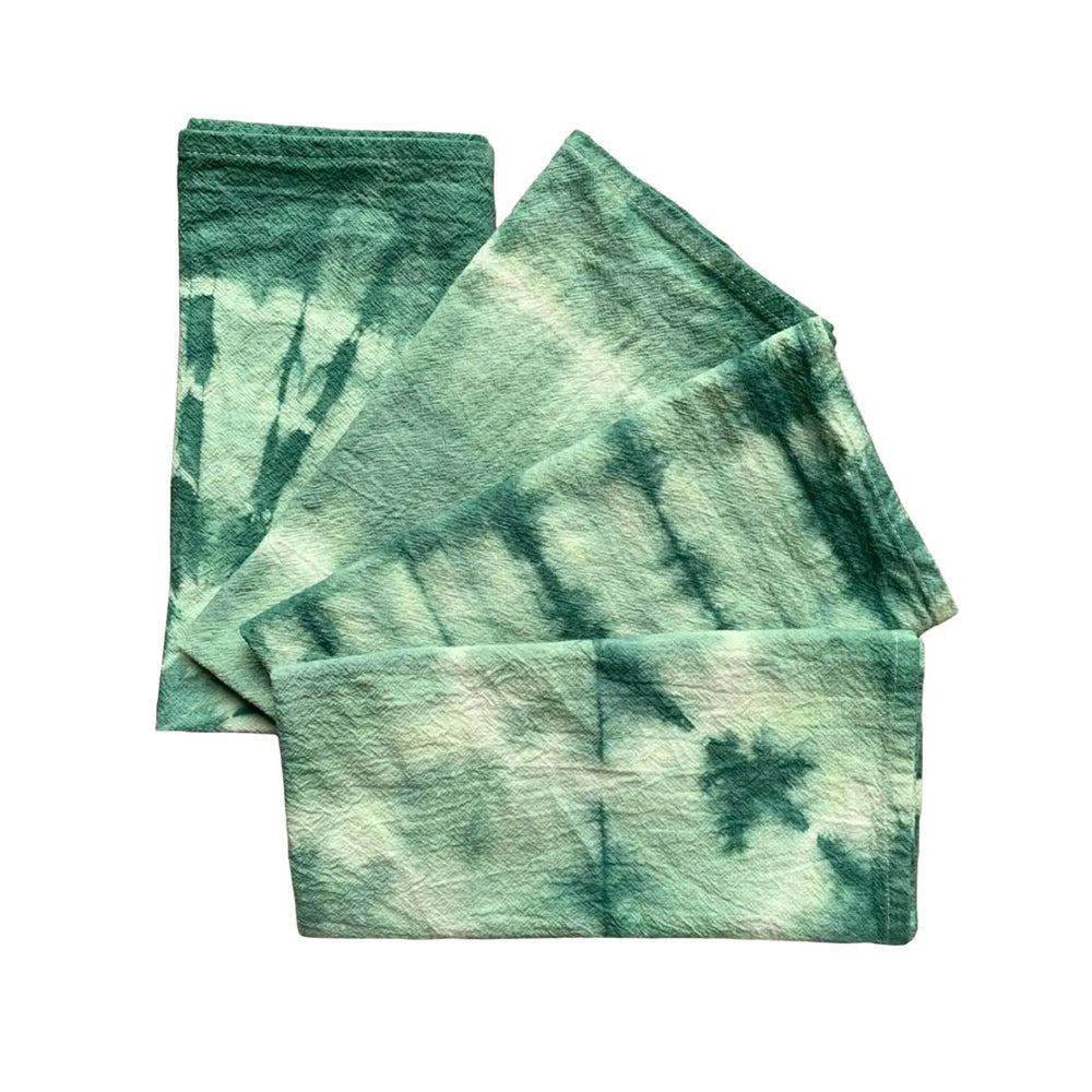 Dark Sage Hand Dyed Cloth Napkins S/4