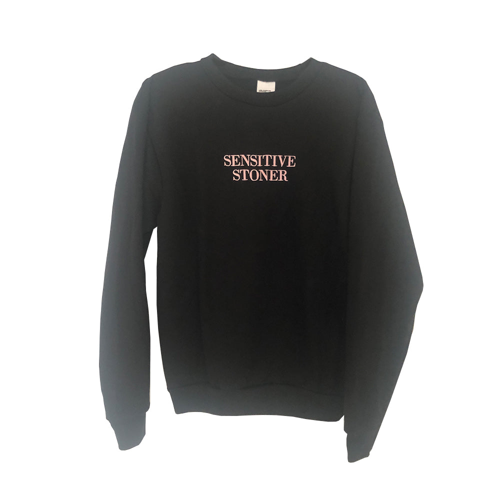 Sensitive Stoner Sweatshirt Pink