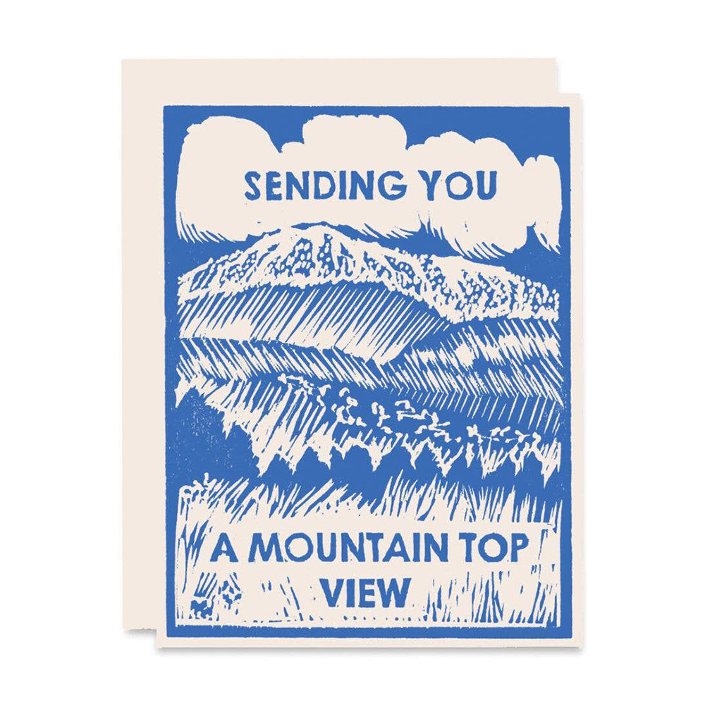 Mountain Top View Card