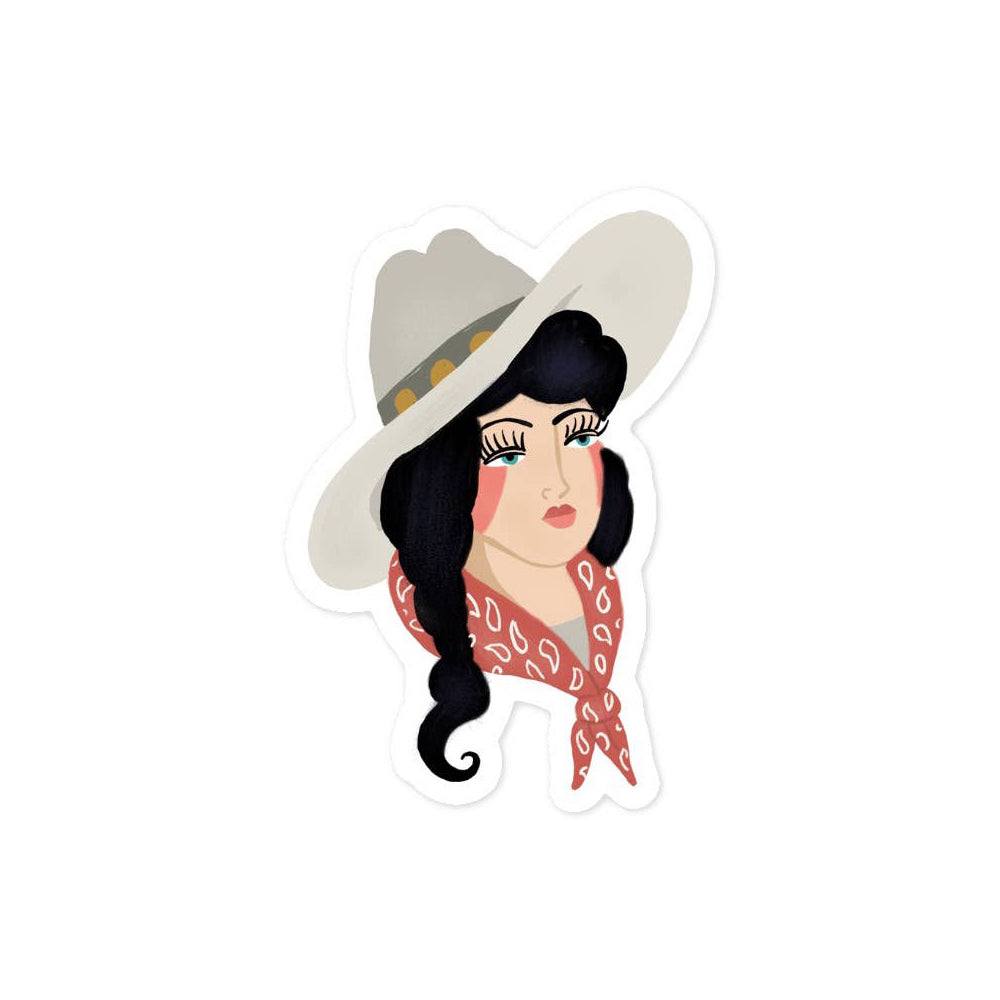 Painted Cowgirl Sticker