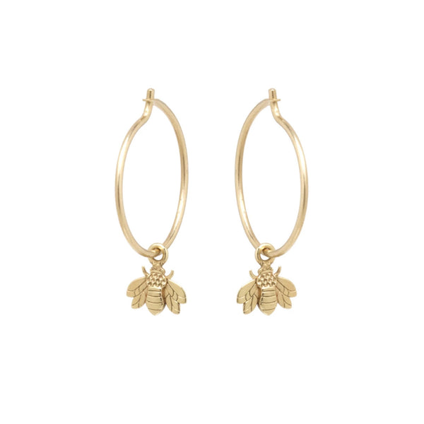 Egeria Bee Earrings 14k