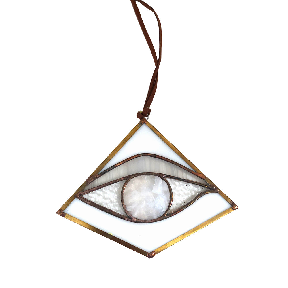 Stained Glass Milky White Third Eye