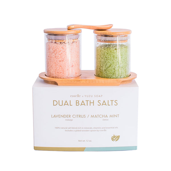 Dual Bath Salt Set Lavender Citrus/Matcha Mint