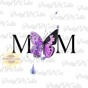 file, mom, succulent butterfly, watercolor succulents, printable digital image, PNG,