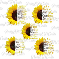 Sunflower Quotes 20 PNG File Bundle Special (Limited Time)