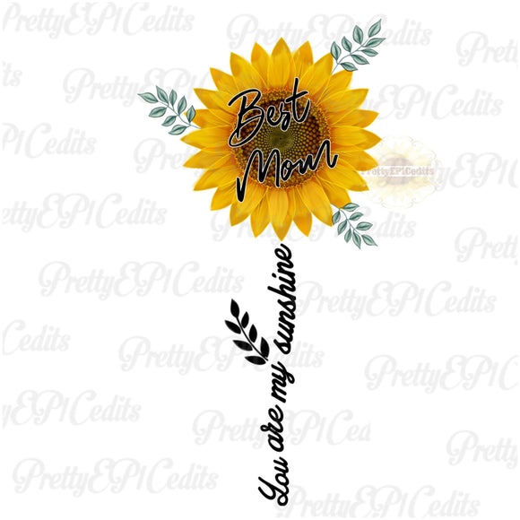 Best mom, you are my Sunshine, digital download, clip art, PNG, JPG