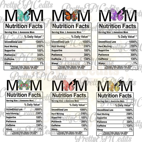 Mom Nutrition Facts 12 File Bundle Special   (Limited Time)
