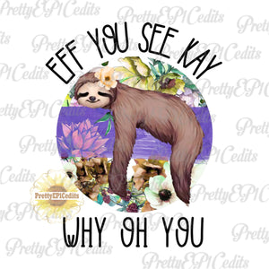 Sloth, flower sloth, digital download,clip art, PNG