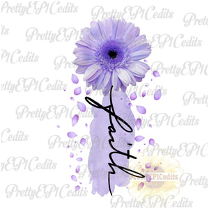 purple faith flower, Daisy,  digital download,clip art, PNG