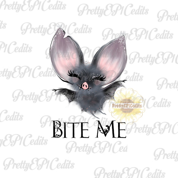 Halloween Bat, Bite Me, digital download, PNG,